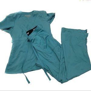 Grey's Anatomy Aquamarine Blue Scrub Sept XS
